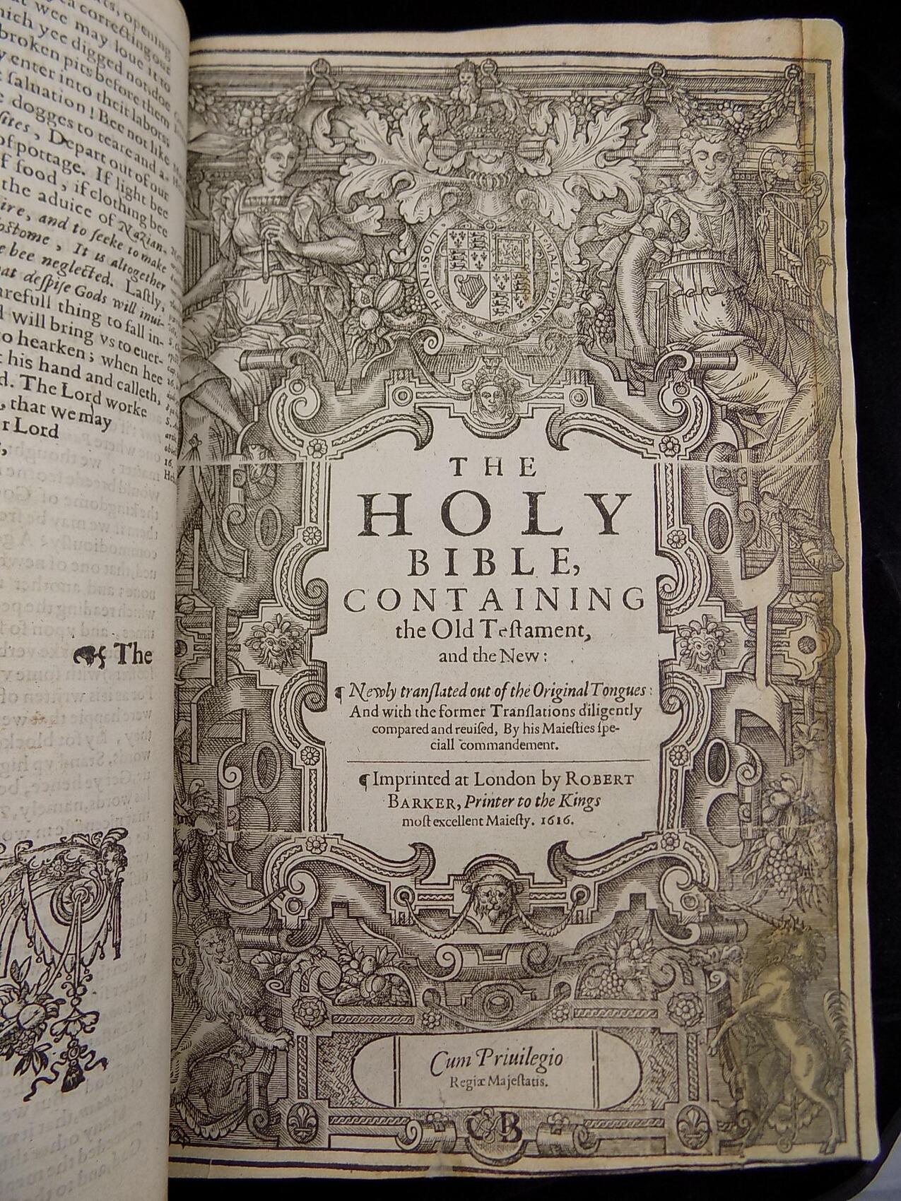 1616 KING JAMES BIBLE ANTIQUE BIBLES