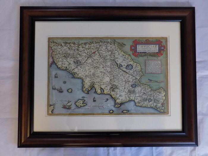 1588 ORTELIUS MAP OF TUSCANY 316 ANTIQUE BIBLES