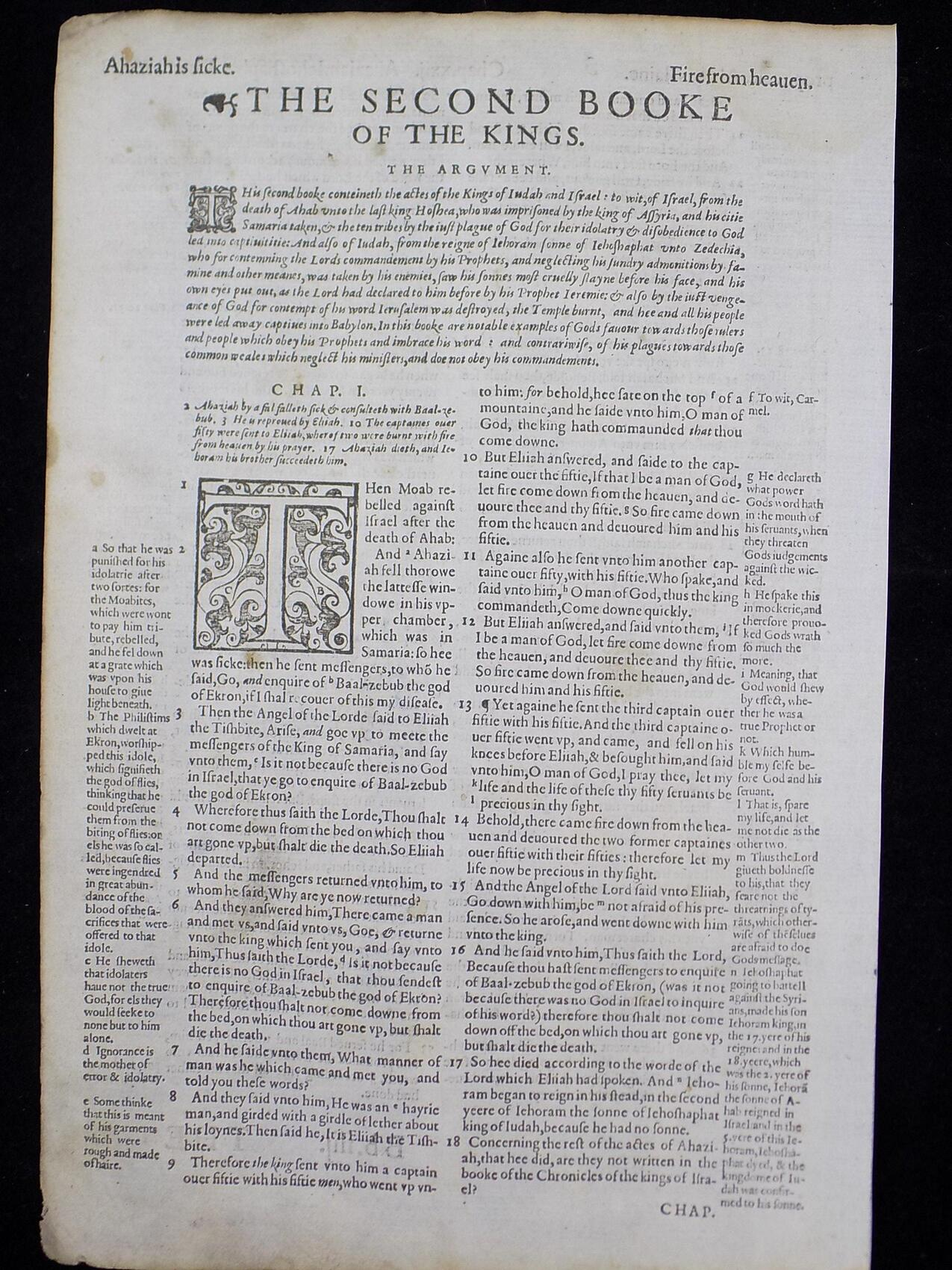 1597 GENEVA BIBLE LEAF 316 ANTIQUE BIBLE