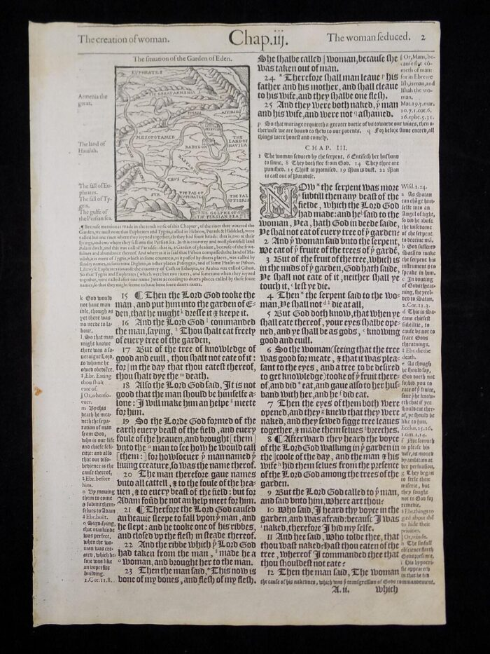 1583 GENEVA BIBLE LEAF