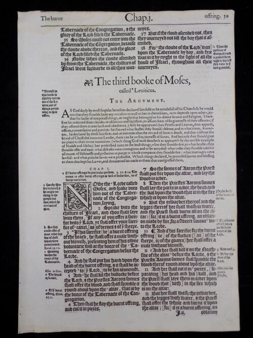 1583 NOBLEST GENEVA BIBLE LEAVES