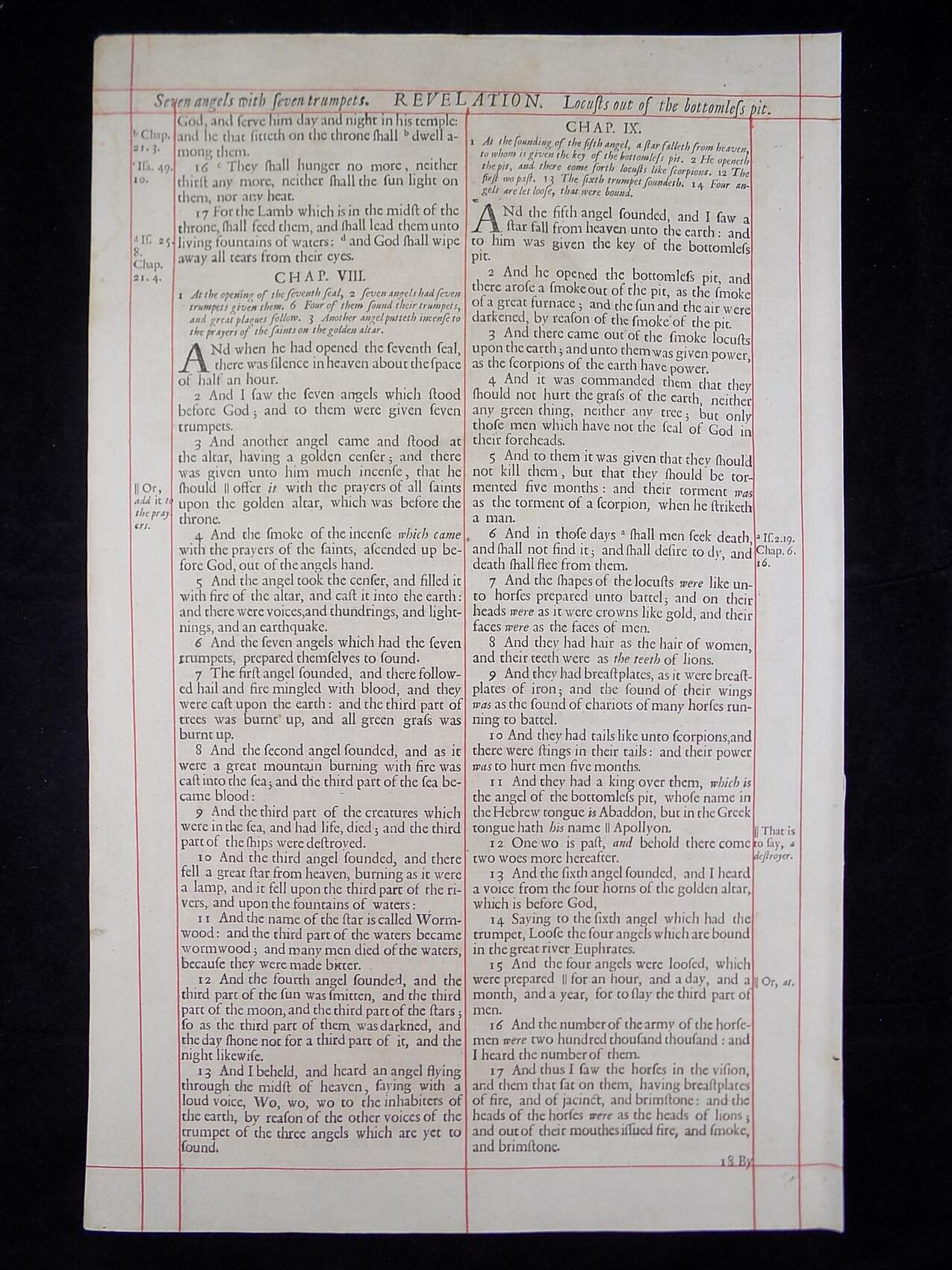 1680 OXFORD KJV REVELATION LEAVES
