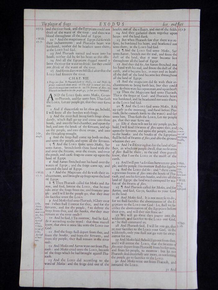1680 OXFORD KJV EXODUS LEAVES
