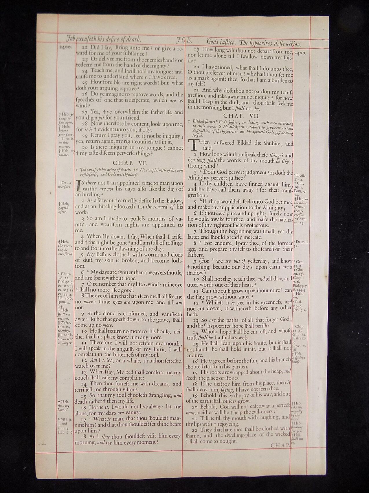 1680 OXFORD KJV JOB LEAVES