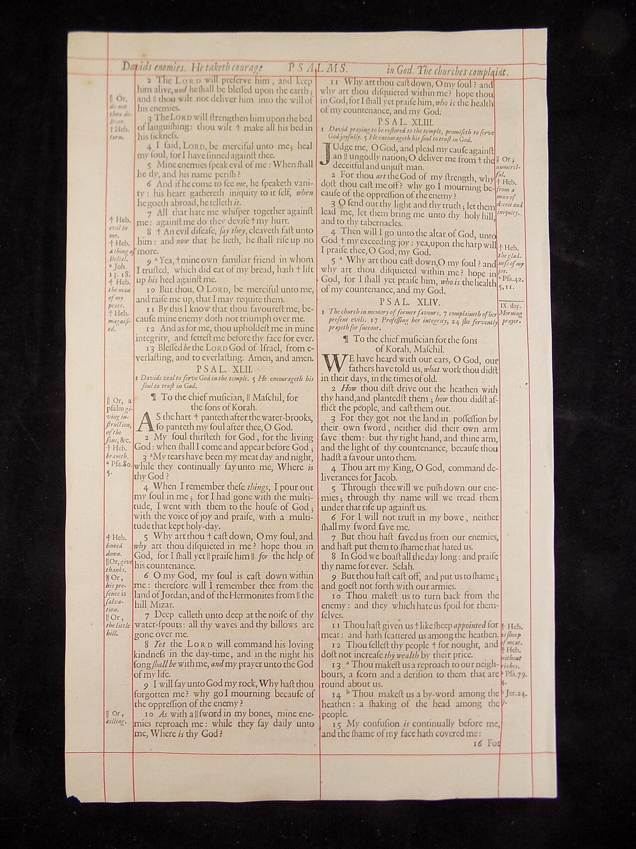 1680 OXFORD KJV PSALMS LEAVES