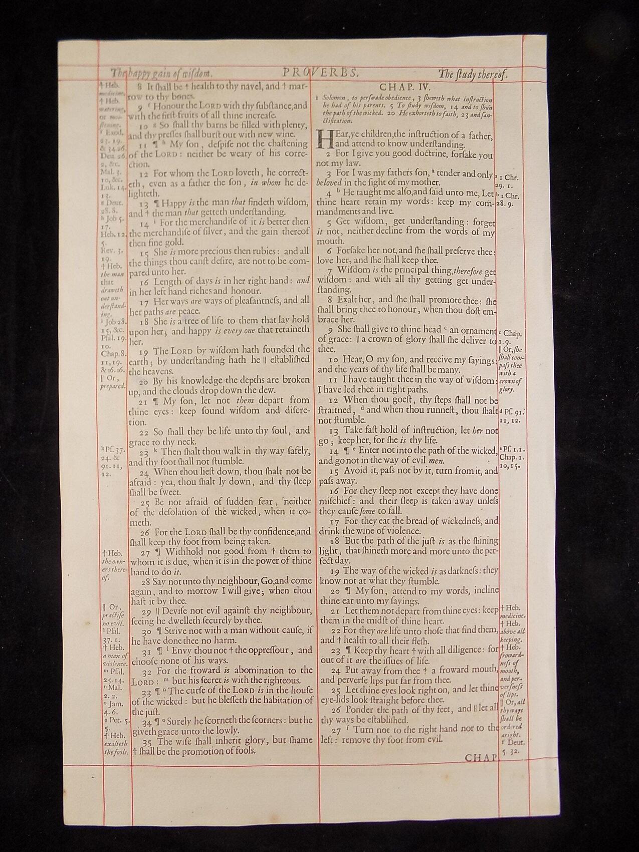 1680 OXFORD KJV PROVERBS LEAVES