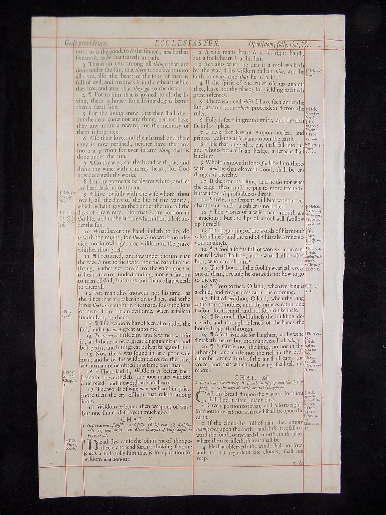 1680 OXFORD KJV ECCLESIASTES LEAVES