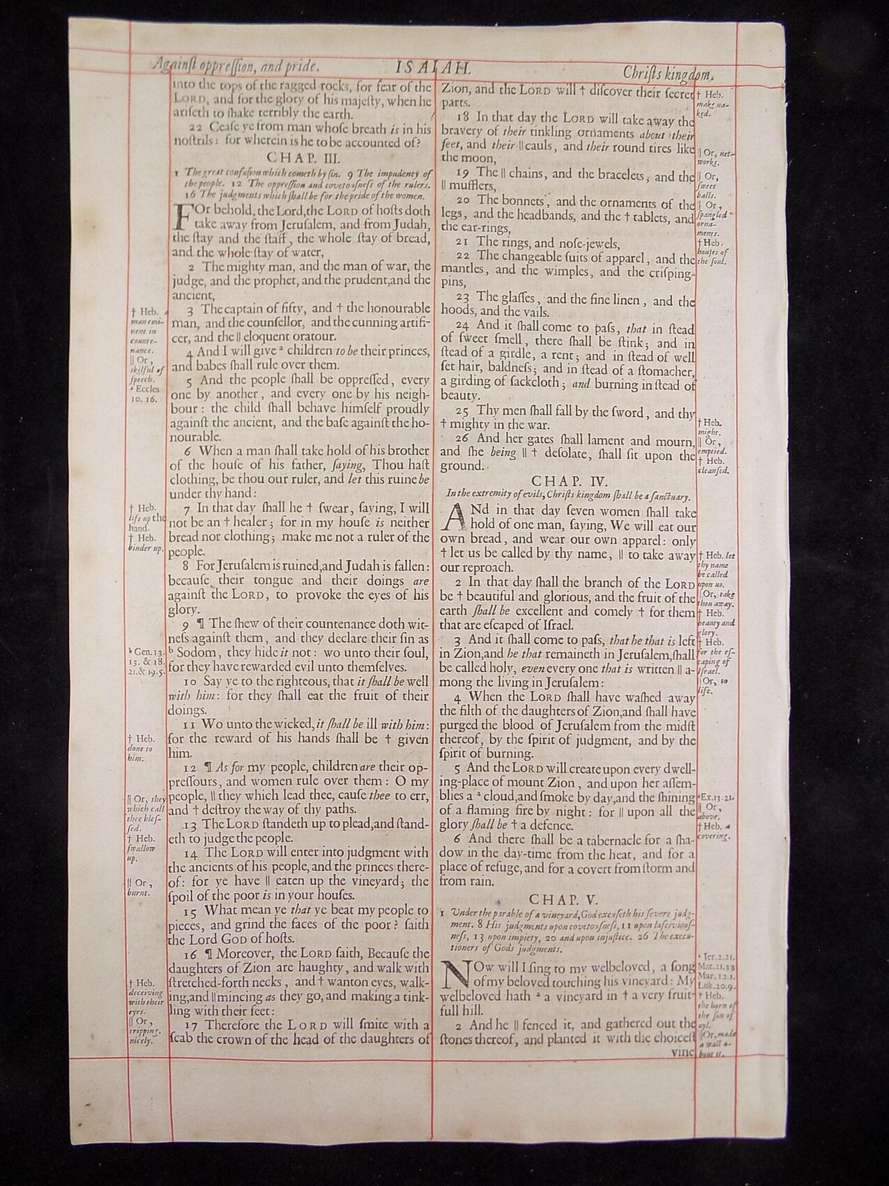 1680 OXFORD KJV ISAIAH LEAVES