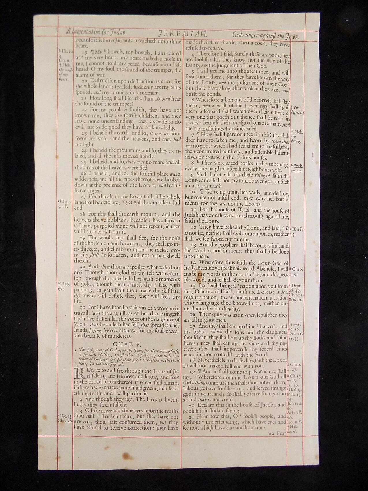 1680 OXFORD KJV JEREMIAH LEAVES