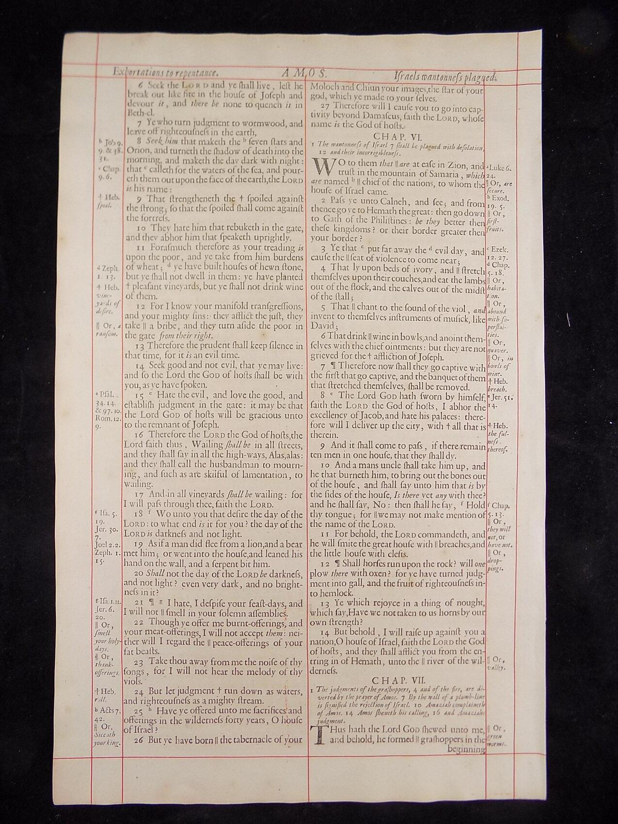 1680 OXFORD KJV AMOS LEAVES