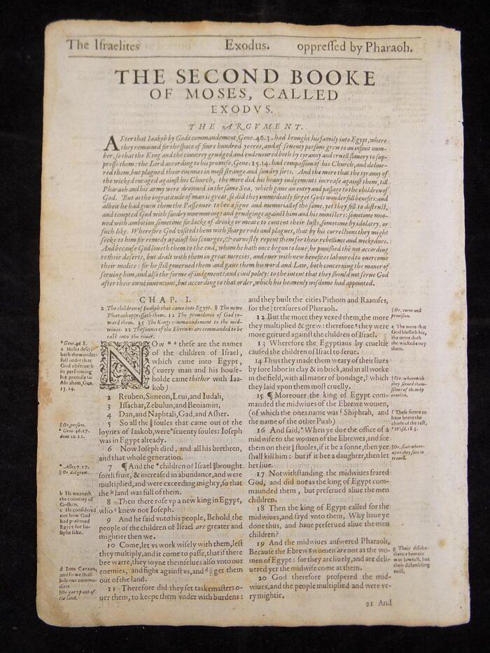 1612 GENEVA BIBLE O.T. TITLE LEAVES