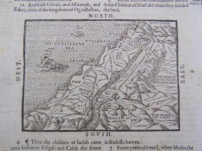 1612 GENEVA BIBLE MAP