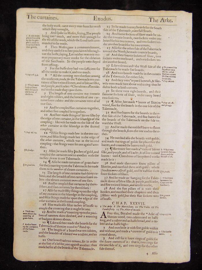 1612 EXODUS BIBLE GENESIS LEAVES