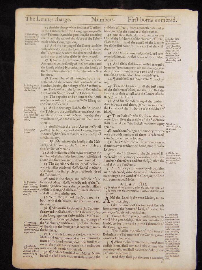 1612 LEVITICUS BIBLE NUMBERS LEAVES