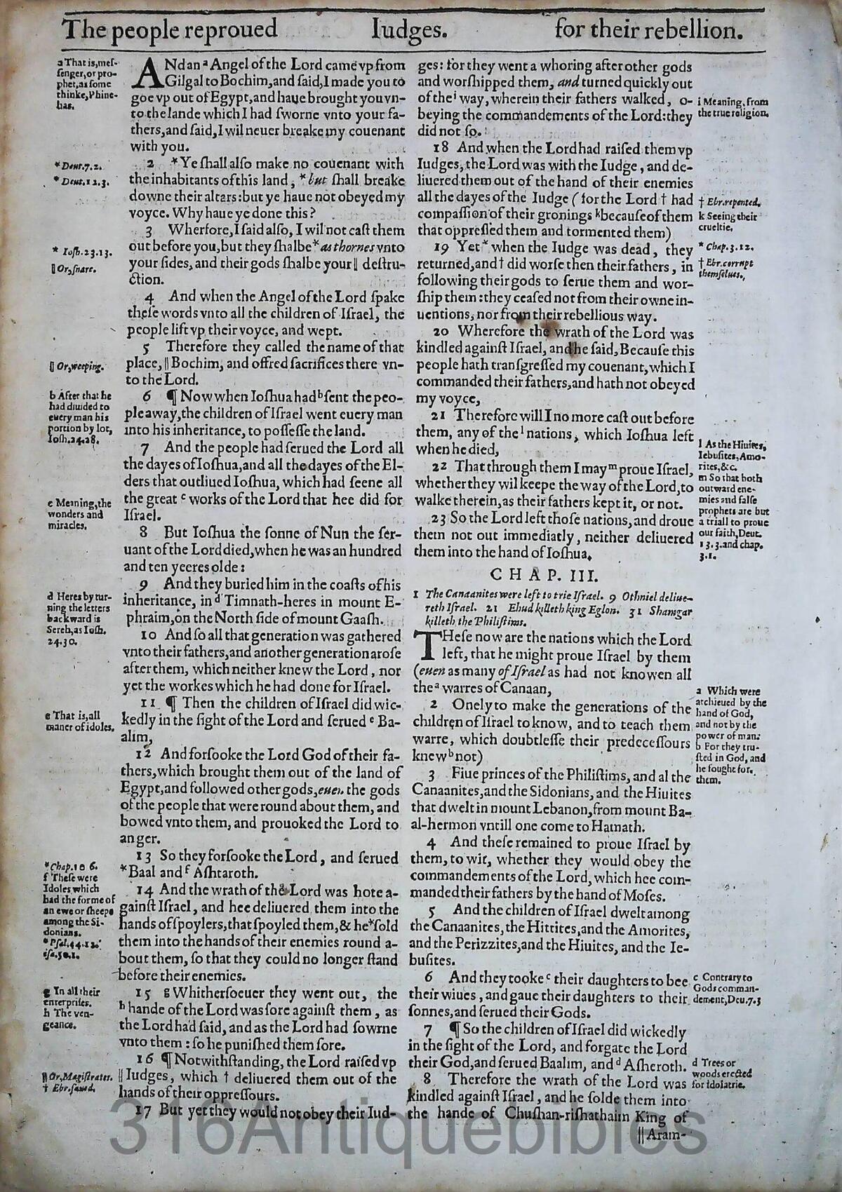 1612 GENEVA BIBLE JUDGES LEAVES