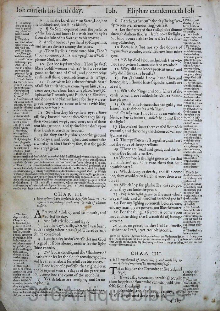 1612 GENEVA BIBLE ESTHER LEAVES