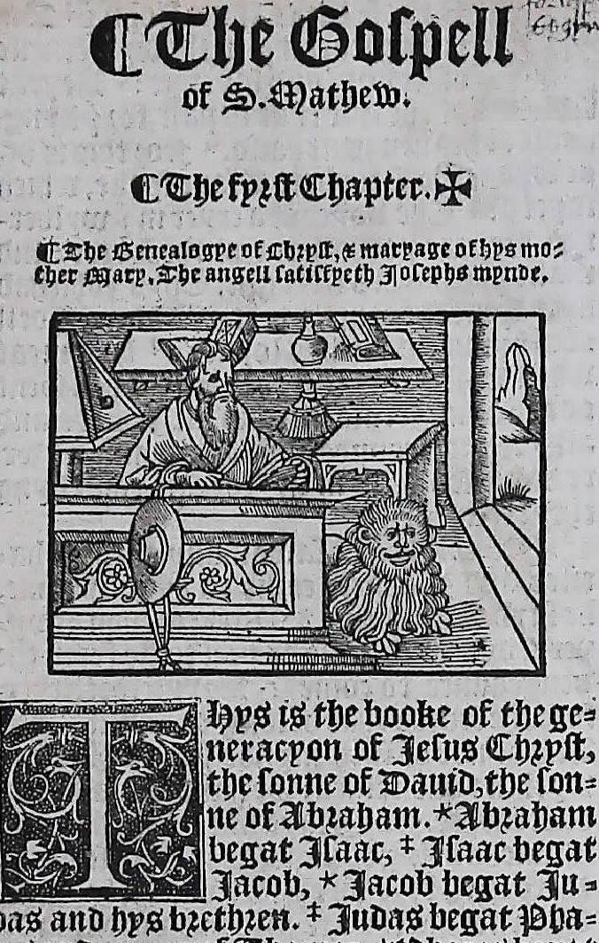 1541 GREAT BIBLE MATTHEW LEAVES