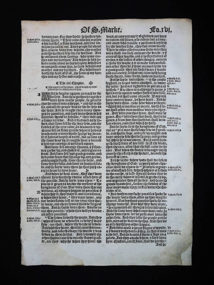 1541 GREAT BIBLE MARK LEAVES