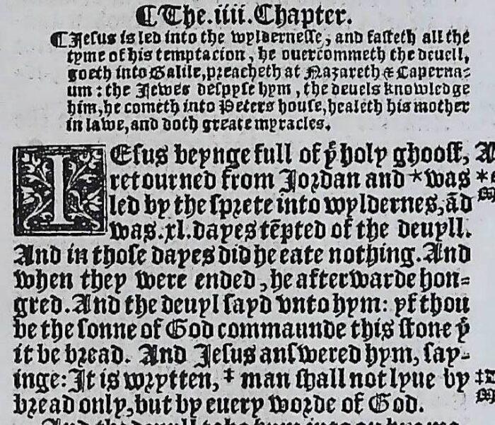 1541 GREAT BIBLE LUKE LEAVES