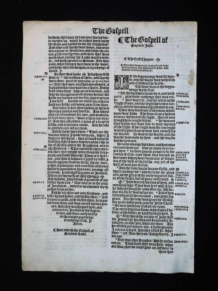 1541 GREAT BIBLE BOOK OF JOHN